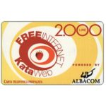 The Phonecard Shop: Italy, Albacom - Kataweb Free Internet, 2.000 lire