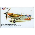 The Phonecard Shop: ATW - WW2 Planes n.21, Supermarine Spitfire Mk.I