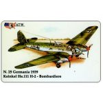The Phonecard Shop: Italy, ATW - WW2 Planes n.25, Heinkel He.111 H-2