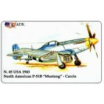 """The Phonecard Shop: Italy, ATW - WW2 Planes n.45, North American P-51B """"Mustang"""""""