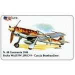 The Phonecard Shop: ATW - WW2 Planes n.48, Focke Wulf FW.190 D-9