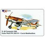 The Phonecard Shop: Italy, ATW - WW2 Planes n.48, Focke Wulf FW.190 D-9