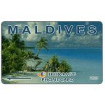 The Phonecard Shop: Beach with palms, 2MLDA, Rf.20