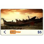 The Phonecard Shop: Malaysia, Kadfon - Fishing boat, 1MSTA, $ 5