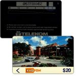 The Phonecard Shop: Kadfon - Malacca city view, 6MSTF, Error (square at right of code instead of left) $20