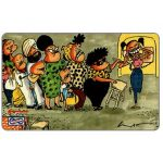 The Phonecard Shop: Uniphonekad - Lat cartoon, Queueing, 7MSAA, $10