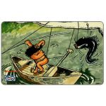 The Phonecard Shop: Uniphonekad - Lat cartoon, Fishing, 7MSAD, $10