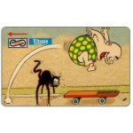 The Phonecard Shop: Uniphonekad - Nan's Comics, Skateboard, 20MSAG, $5