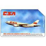 The Phonecard Shop: Pakistan, Telips, Czechoslovak Airlines, Rs100