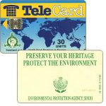 The Phonecard Shop: TeleCard, world map with bank logo, Preserve Your Heritage (Q 5000), 30 units