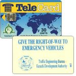 The Phonecard Shop: TeleCard, world map with bank logo,  Give the Right-of-Way, 30 units