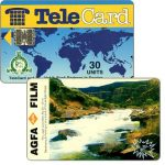 The Phonecard Shop: TeleCard, world map with bank logo, Agfa Film, 30 units