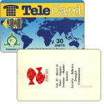 The Phonecard Shop: TeleCard, world map with bank logo, Zodiac, Pisces, 30 units