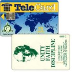 The Phonecard Shop: TeleCard, world map with bank logo, Unity Faith Discipline, 75 units