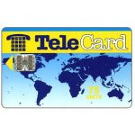 The Phonecard Shop: TeleCard, world map without bank logo, white reverse, 75 units