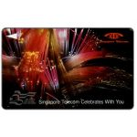 The Phonecard Shop: Singapore, Fibre optics 2, 10SIGB, $10
