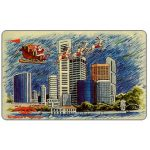 The Phonecard Shop: Christmas, skyline, 12SIGB, $10