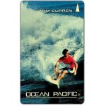 The Phonecard Shop: Singapore, Ocean Pacific, Tom Curren, 1SOCB, $2