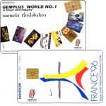Phonecard for sale: Gemplus World no.1, France '96 / Bangkok