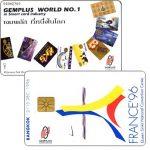 The Phonecard Shop: Thailand, Gemplus World no.1, France '96 / Bangkok