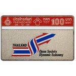 The Phonecard Shop: Thailand, Open Society Dynamic Economy, 100 Baht