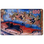 Phonecard for sale: Mural painting, 100 Baht