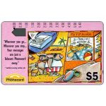 The Phonecard Shop: Advertising on Phonecards, Answering Machine (code A920101-2), $5