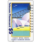 The Phonecard Shop: Australia, Sydney Opera House, old logo, $5