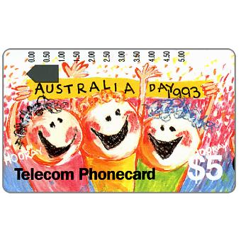 The Phonecard Shop: Australia Day 1993, $5