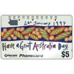 The Phonecard Shop: Australia, Australia Day 1994, $5