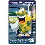 The Phonecard Shop: Australia, Telecom's Book Muncher at BP Service Stations, $5