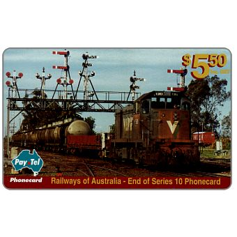 Phonecard for sale: PayTel - Railways of Australia, Series 10, complimentary $ 5.50