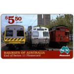 Phonecard for sale: PayTel - Railways of Australia, Series 11, complimentary $ 5.50