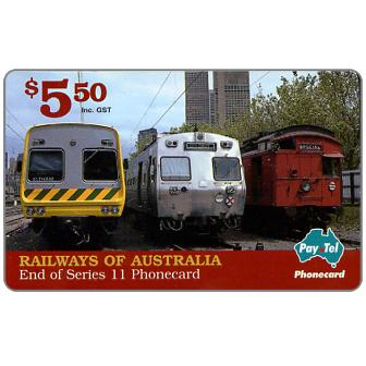 The Phonecard Shop: PayTel - Railways of Australia, Series 11, complimentary $ 5.50