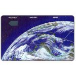 The Phonecard Shop: Christmas Island, First issue, Earth from space, $10