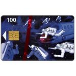 The Phonecard Shop: Tele Danmark - Space Men, SN 6201, 31.12.97, 100 kr