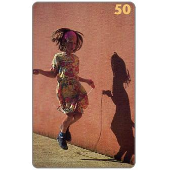 The Phonecard Shop: Tele Danmark - Girl with Skipping Rope, 50 units