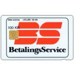 The Phonecard Shop: Denmark, Danmønt - Betalings Service, 06.98, 100 kr