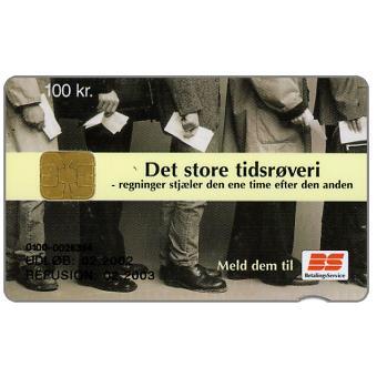 The Phonecard Shop: Denmark, Danmønt - Det store tidsrøveri, 02.02, 100 kr