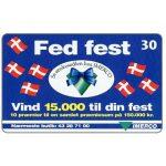The Phonecard Shop: Denmark, Tele Danmark - Fed Fest, 30 kr