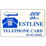The Phonecard Shop: Estline, used on board of ferries between Tallinn and Stockholm, 25 SEK
