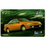 The Phonecard Shop: Fiji Islands, Hyundai - Scoupe, code on silver strip, $2
