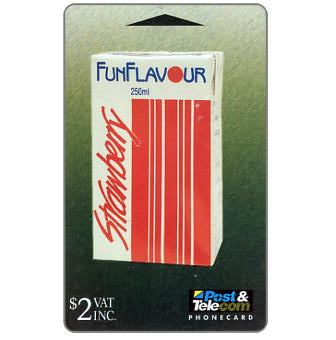 The Phonecard Shop: Strawberry Fun Flavour Milk, $2