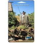 The Phonecard Shop: Fiji Islands, Warrior Defending Fort, $3