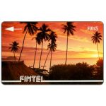 The Phonecard Shop: Fiji Islands, Fintel - First issue, without VAT, Palms at sunset, $5