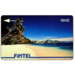 The Phonecard Shop: Fiji Islands, Fintel - First issue, without VAT, Palms & Beach, $10