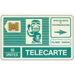 The Phonecard Shop: French Polynesia, First issue, green Tiki, white back, code 11502, chip SC-4 gold, 60 units