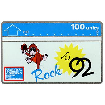 Phonecard for sale: Rock 92, 204A, 100 units