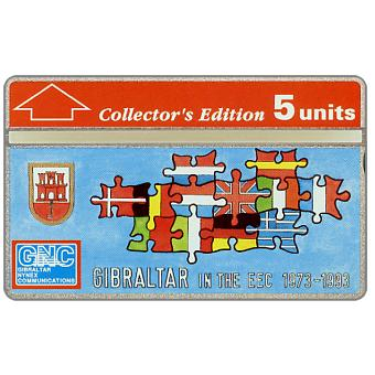 Phonecard for sale: Gibraltar in the EEC, 5 units