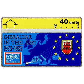Phonecard for sale: Gibraltar in the EEC, 40 units